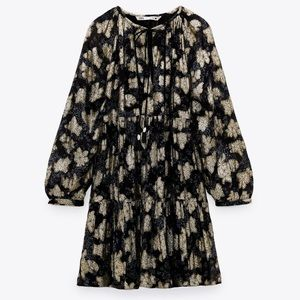 Zara Voluminous Printed Dress Size M